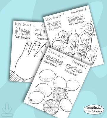 1,2,3 English/Spanish Ebook