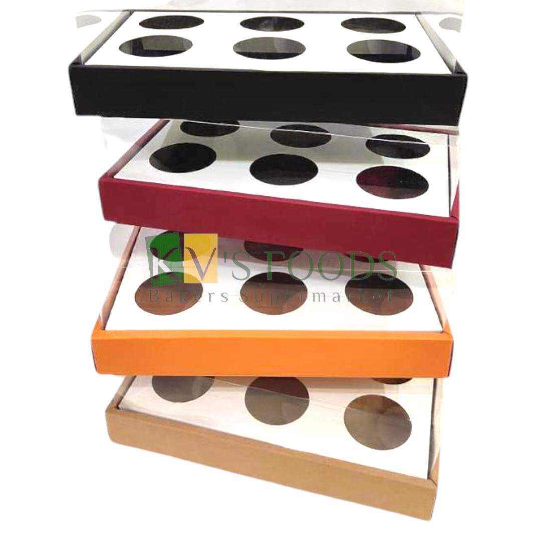 Premium 6 Cavity Cupcake Boxes (Set of 5 Boxes)