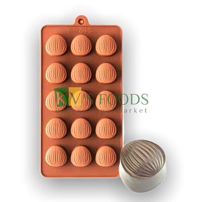 Round Shell Pattern Chocolate Mould