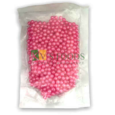 Pink Pearl Balls Edible Confetti Sprinkles for Cake and Dessert Decoration