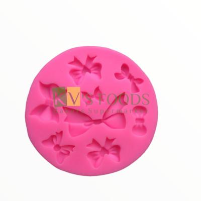 8-Cavity Different Sizes Bow Tie Shape Fondant Silicon Mould, Suitable for Fondant & Gum Paste