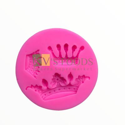 3-Cavity Different Crown Shape Fondant Silicon Mould, Suitable for Fondant & Gum Paste