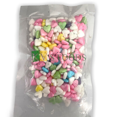 Imported Multicolor Hearts Edible Confetti Sprinkles for Cake and Dessert Decoration