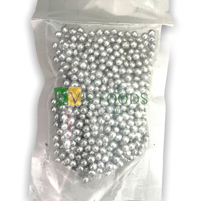 Silver Balls M Size Edible Confetti Sprinkles for Cake and Dessert Decoration