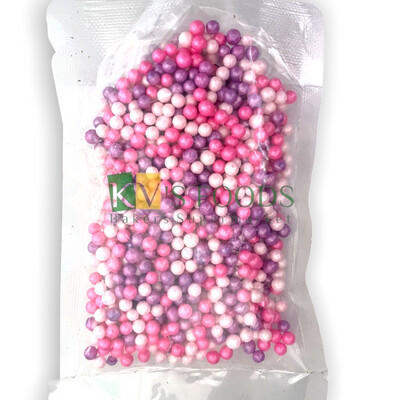 Pink Purple Shade Pearl Balls Edible Confetti Sprinkles for Cake and Dessert Decoration
