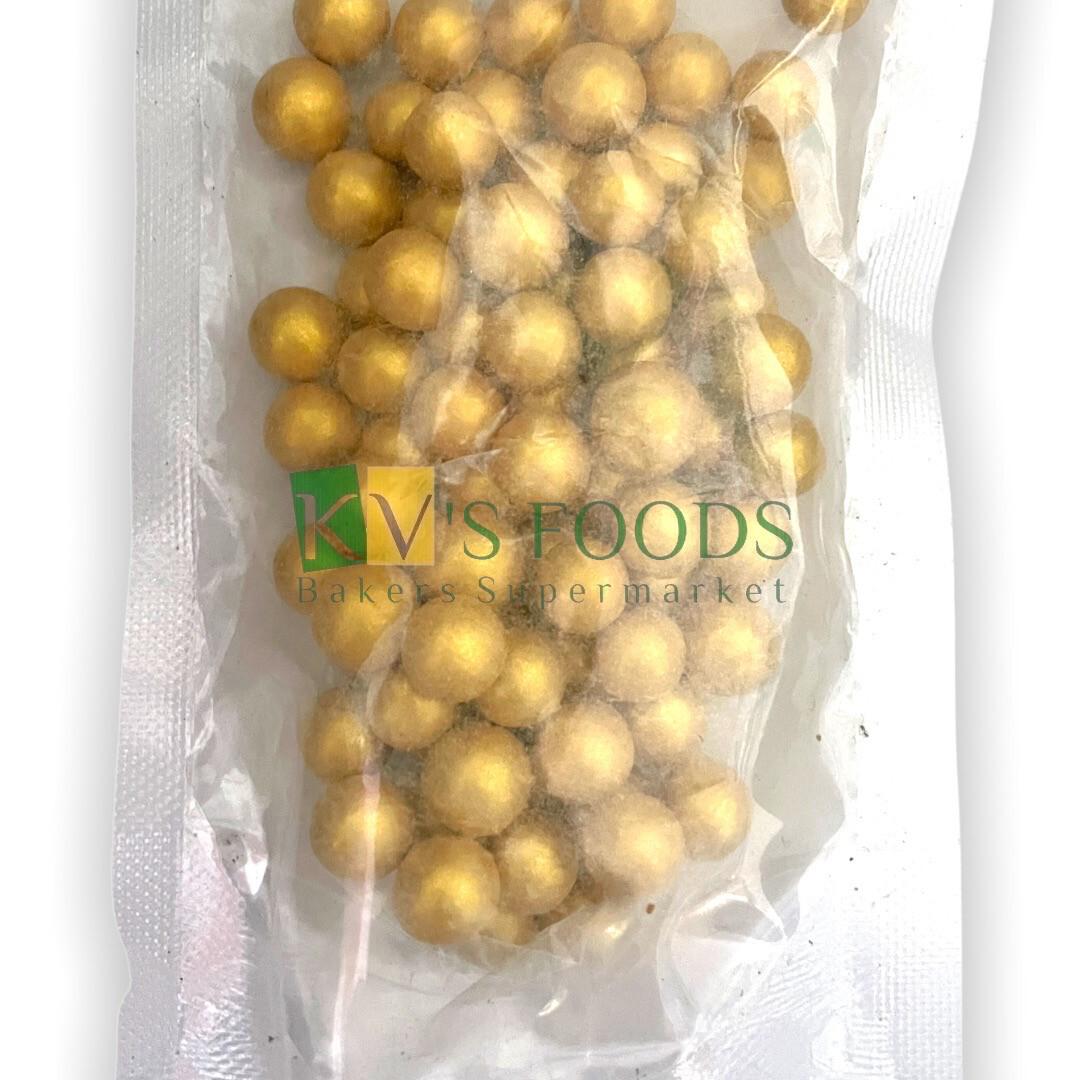 Golden Balls Large Edible Confetti Sprinkles for Cake and Dessert Decoration
