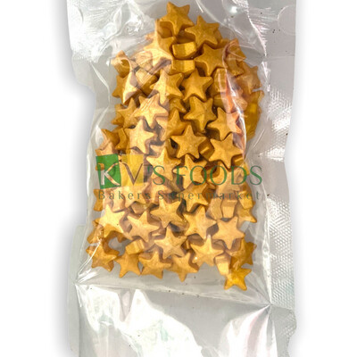 Golden Stars Edible Confetti Sprinkles for Cake and Dessert Decoration