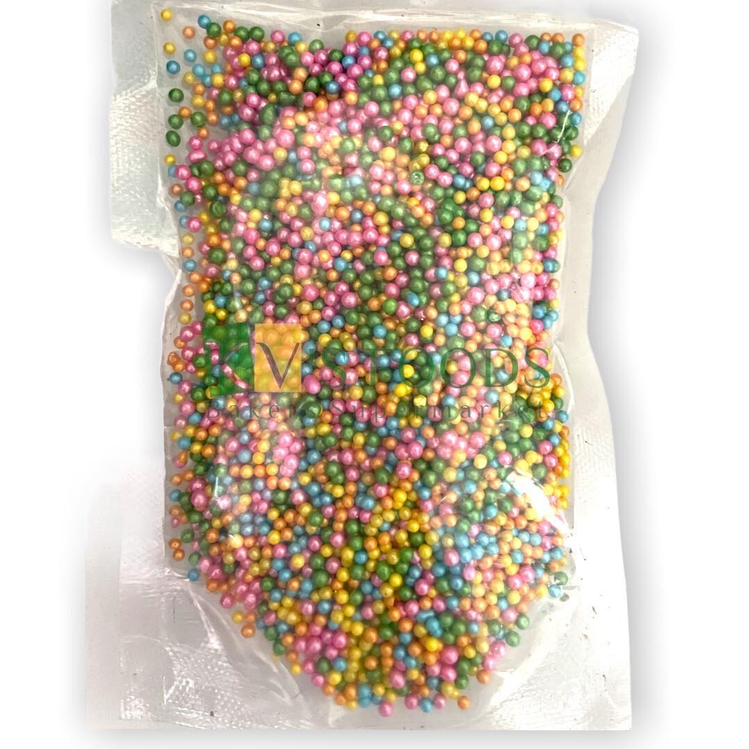 Multicolored Metallic Color Shiny Balls Small Edible Confetti Sprinkles for Cake and Dessert Decoration
