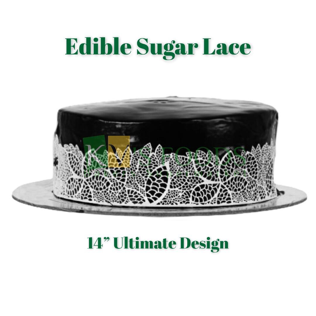 "14"" Edible Sugar Lace - Ultimate Design (Set Of 5)"