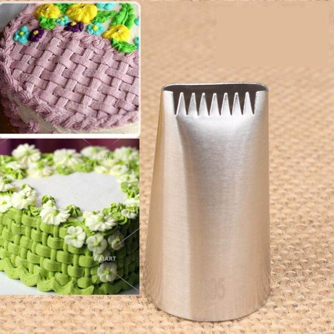 Stainless Steel Basket Weave Icing Pipping Cake Nozzle