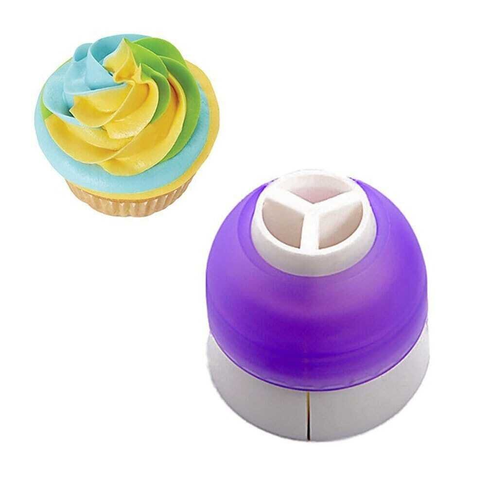 Tri Colour Cream Coupler Polytree Icing Piping Bag Cake Nozzles Converter Cake Tool