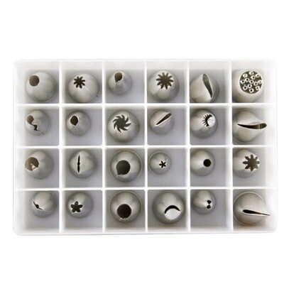 24 Pcs Cake Pastry Frosting Icing Baking Decorating Piping Cake Nozzles Tip