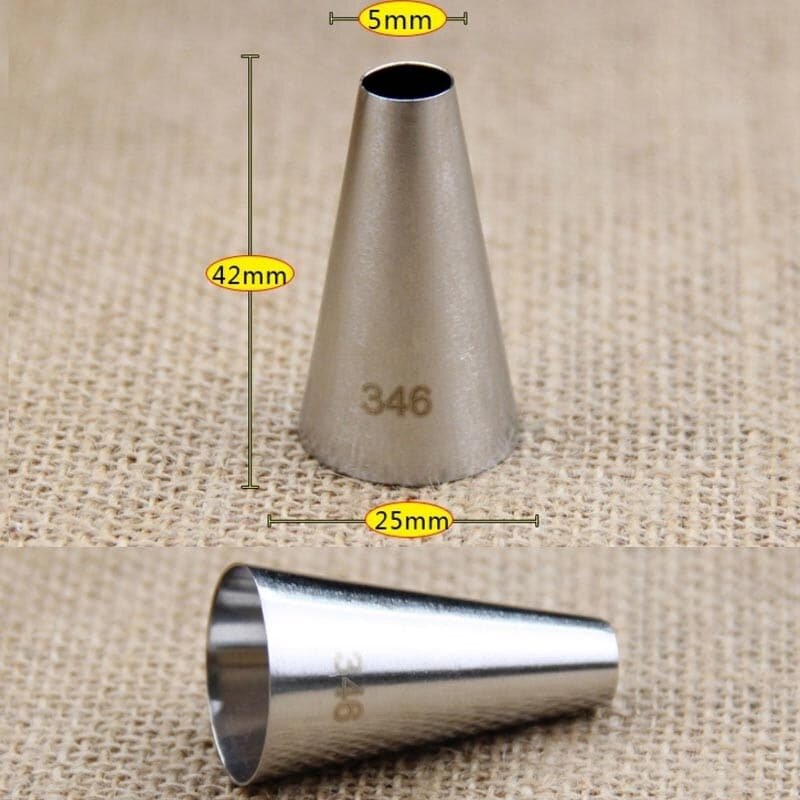 Round Tip No. 346 Icing Piping Nozzle Medium Size Cake Decorating Tools