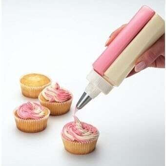 Two Color Icing Piping Cake Cream Pastry Decorating Bottle With Stainless Steel Nozzle Cake Tools