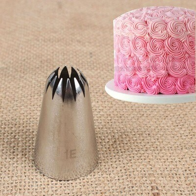 1E Large Size Stainless Steel Icing Piping Nozzle Cake Decoration Tools