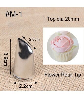 Generic M1 Rose Petal Stainless Steel Pastry Icing Piping Nozzle Tip Cake Decoration Tools
