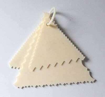 3PC Set Cake Scraper Triangle Smoother Fondant & Cake Decorating Tools