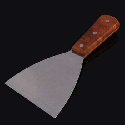 Offset Spatula Scrapper 4 Inch, Stainless Steel Wooden Handle Cake Pizza Tool