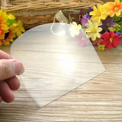 Single Piece Flexible Transparent Plastic Cake Scrapper Smother
