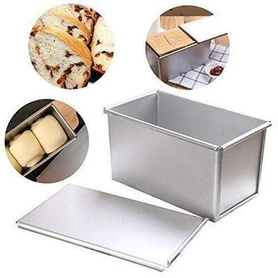 Rectangle Aluminum Sandwich Loaf Bread Ice Cream Tin Pan Mould Box Small