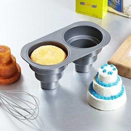2 Cavity 3 Layer Nonstick Mini Cake Mold Cake Mould