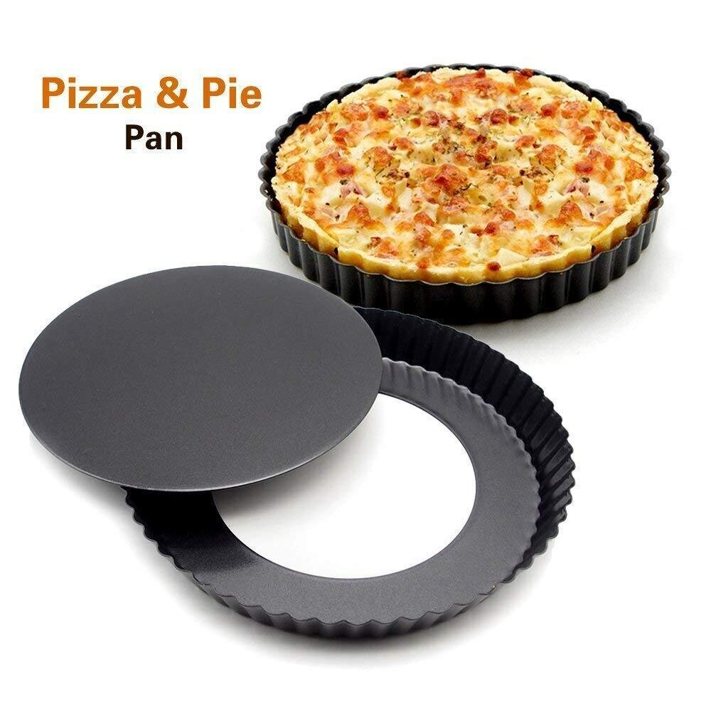 8 Inch Round Shape Pie Pizza Dish Pan With Removable Bottom Cake Tools
