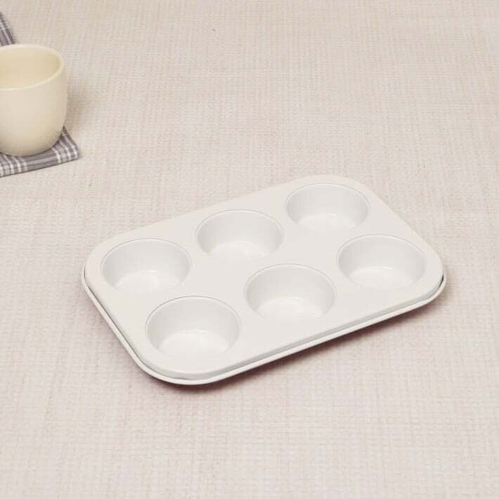 Non-stick 6 Cup Muffin Pan Cake Cupcake Mould Baking Tools