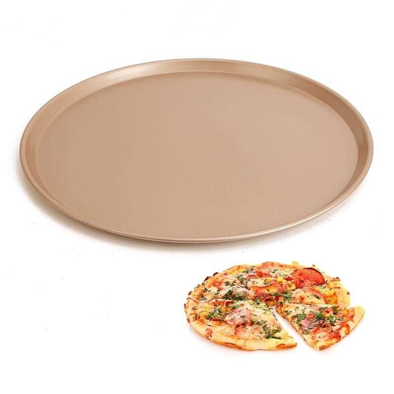 11 Inch Gold Colour Non-stick Pizza Thali Pan Plate