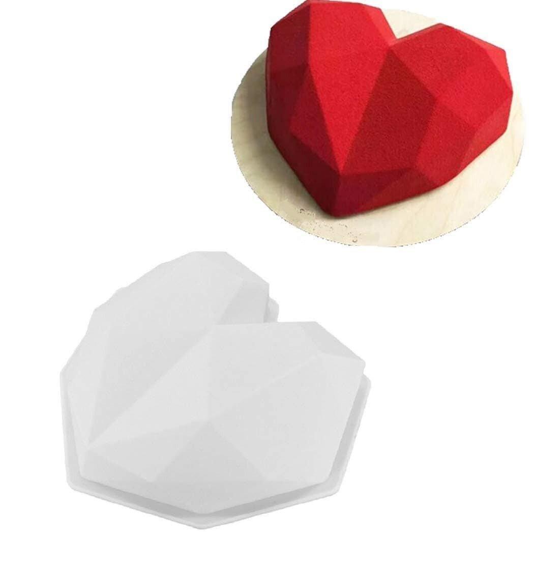 3D Diamond Heart Shaped Pinata Cake Mold Cake Tools