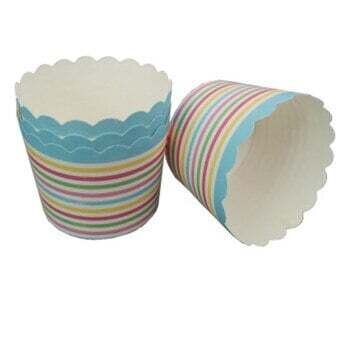 50 PC Big Rainbow Oil Proof Muffin Cupcake Paper Cup Cake Baking Cup Cake Tools
