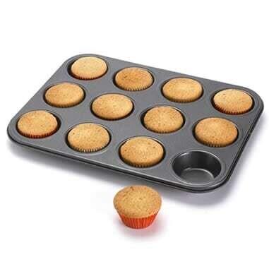 12 Cup Non-Stick Mini Muffin Tart Cupcake Tray Pan Cake Tool