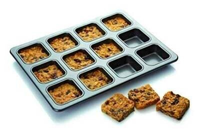 12 Cup Non-Stick Square Brownie Baking Pan Cake Mold Cake Tools