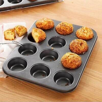Non-stick 12 Cups Medium Size Midi Muffin Cupcake Tart Mould