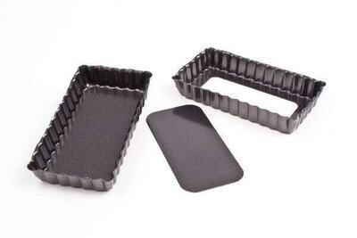 Single Piece Non-Stick Mini Rectangle Quiche Tart Pan Pie Dish 11 Cm X 6 Cm Cake Brownie Mould