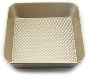 Square Non-Stick Gold Cake Pan Mould 9 Inch