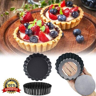 Single Piece 3 Inch Round Shape Mini Pie Dish Tart Quiche Pan With Removable Bottom Cake Tools