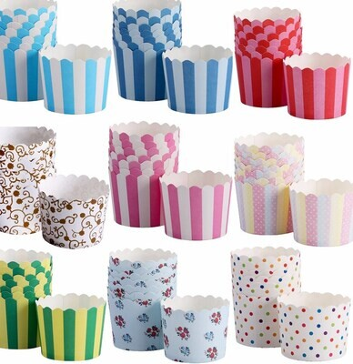 50 PC Oil Proof Muffin Cupcake Paper Cup Cake Baking Cup Cake Tools –