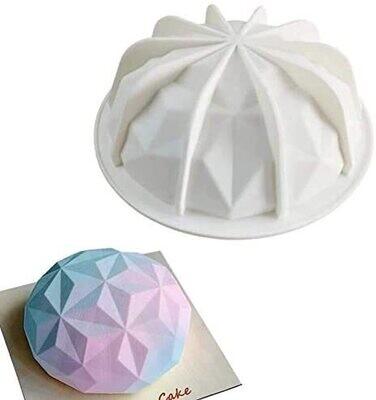 3D Pinata Diamond Round Shape Silicone Cake Mold