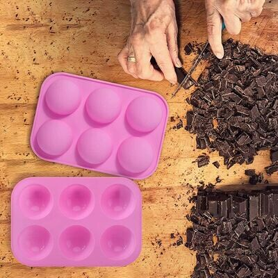 6 Cavity Silicone Half Round Balls Baking Mold Cake Tools