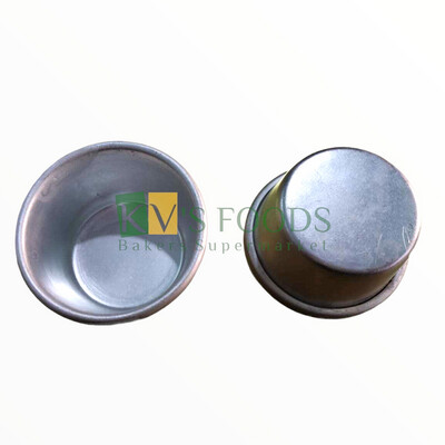 6 PC Aluminum Round Cup Cake Muffin Jelly Pudding Tart Mould Diameter 5.5 Cm