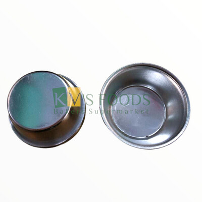 2 PC Aluminum Round Cup Cake Muffin Jelly Pudding Mould 7 Cm Diameter