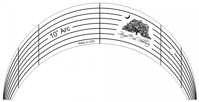 10 Inch Arc Rulerwork Quilting Template