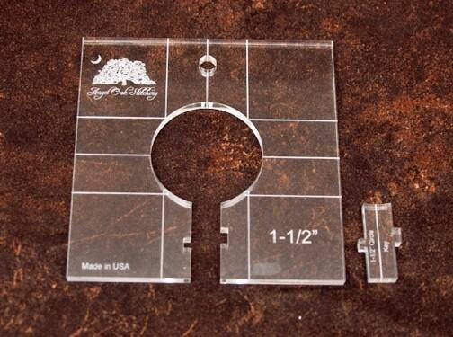 1-1/2 inch Circle Rulerwork Quilting Template