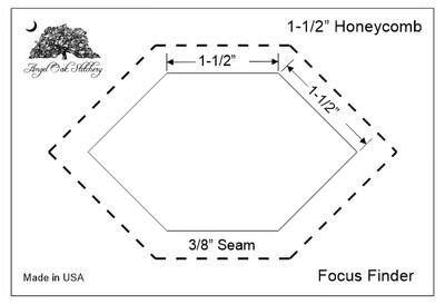 1-1/2 Inch Honeycomb Paper Piecing Focus Finder