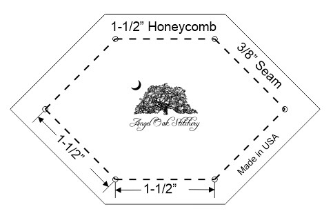 1-1/2 Inch Honeycomb Paper Piecing Template