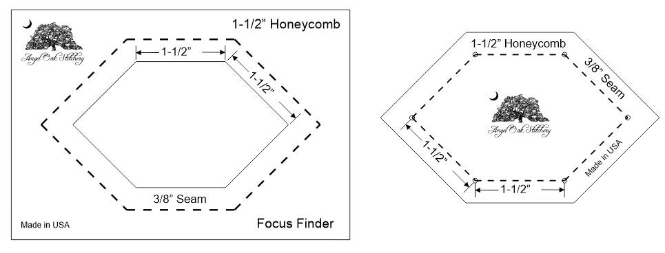 1-1/2 Inch Honeycomb Paper Piecing Template Set