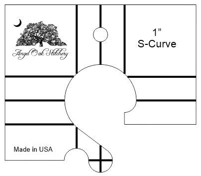 1 inch S-Curve Rulerwork Quilting Template
