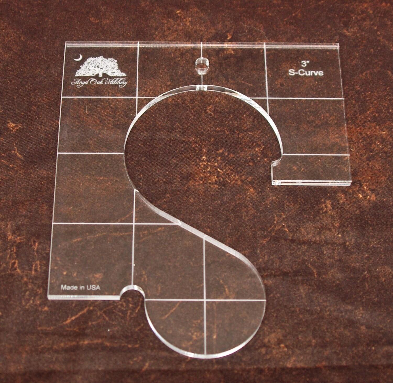 3 inch S-Curve Rulerwork Quilting Template