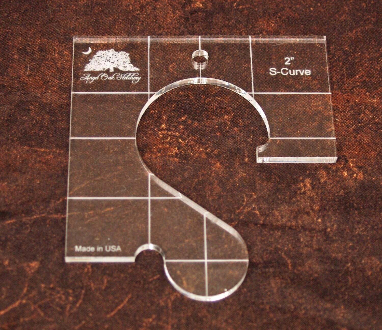 2 inch S-Curve Rulerwork Quilting Template