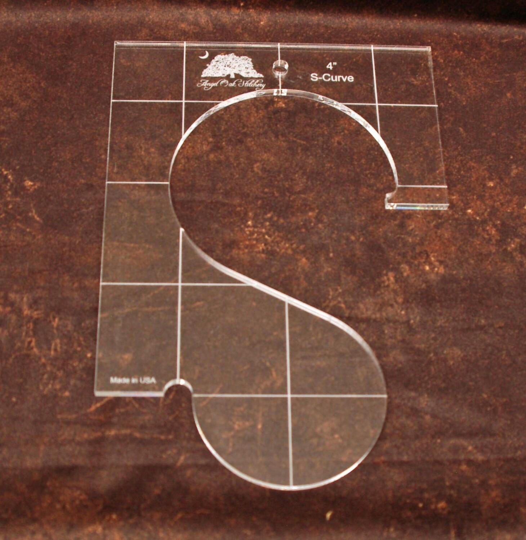 4 inch S-Curve Rulerwork Quilting Template